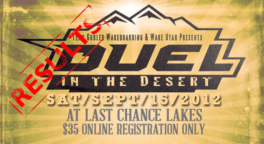 2012 Duel in The Desert Results